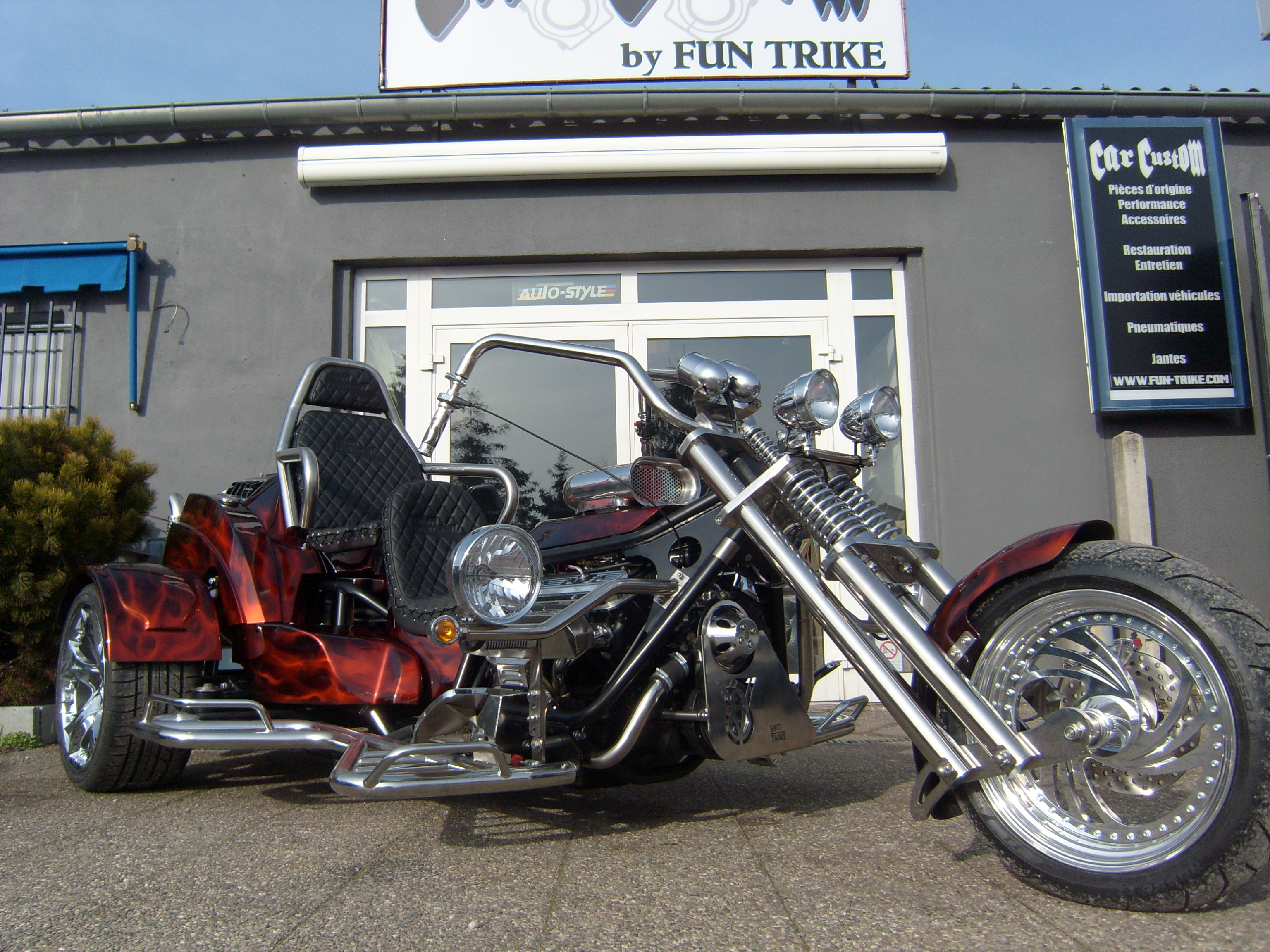 trike smt monster v8 chevrolet 280cv 2 places a boite