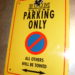 Panneau deco « PARKING ONLY »